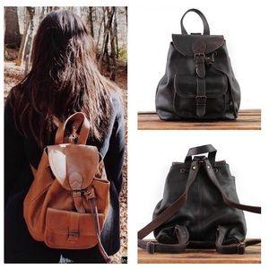 Paul Marius Brown Leather Lebaroudeur Backpack